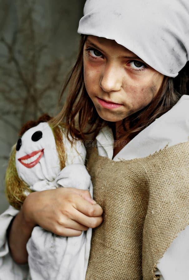 φτωχός λυπημένος κοριτσι στοκ εικόνα
