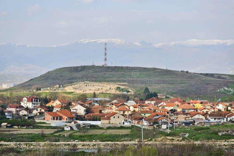 Φτωχό μακεδονικό χωριό στοκ φωτογραφία