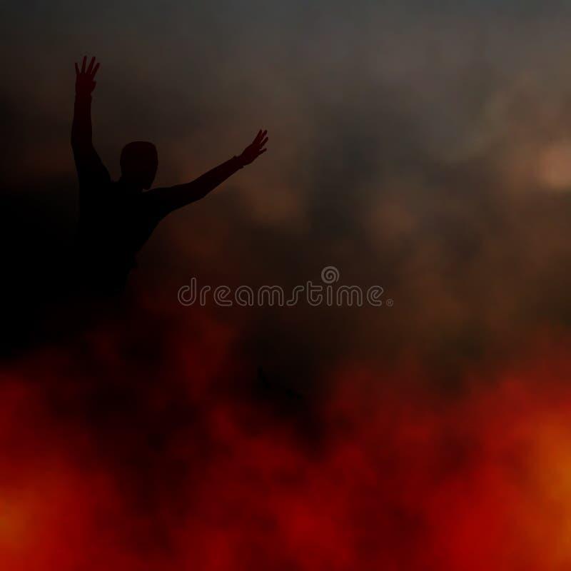 Φυγή της πυρκαγιάς διανυσματική απεικόνιση