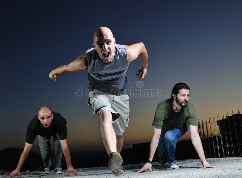 Φυλή και τρέξιμο στοκ εικόνα με δικαίωμα ελεύθερης χρήσης