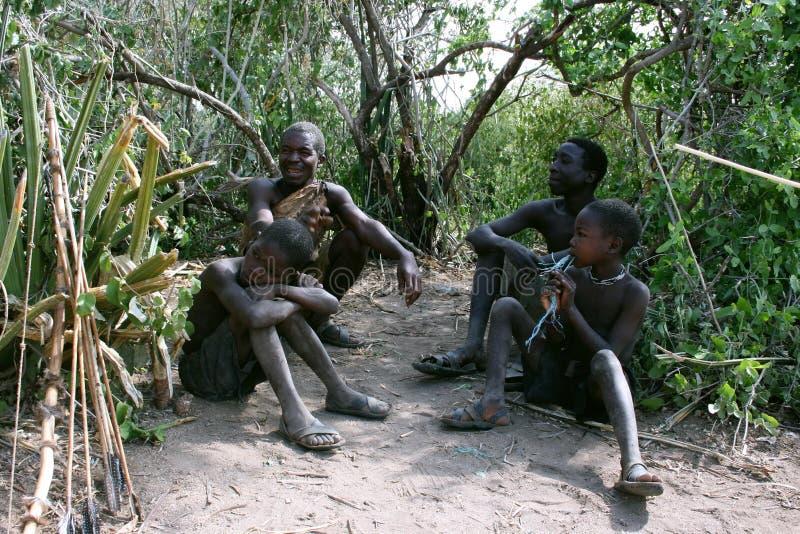 φυλή της Αφρικής hadzabe Τανζανί&alph στοκ φωτογραφίες με δικαίωμα ελεύθερης χρήσης
