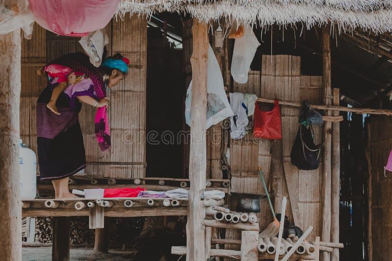 Φυλή Kayan, κυρία Kayan στο χωριό Kayan, κράτος της Kayah, το Μιανμάρ στοκ φωτογραφίες με δικαίωμα ελεύθερης χρήσης