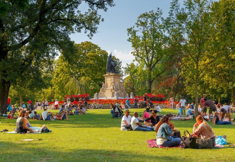 φυλακτών Δημοτικό πάρκο Vondelpark στοκ φωτογραφία με δικαίωμα ελεύθερης χρήσης