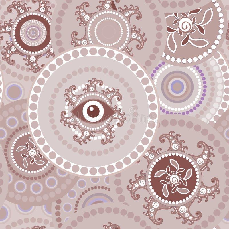 Φυλετική άνευ ραφής σύσταση του Paisley διανυσματική απεικόνιση