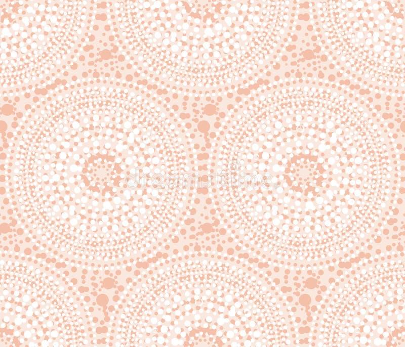 Φυλετική ινδική γεωμετρία κύκλων ύφους αφηρημένη διανυσματική απεικόνιση