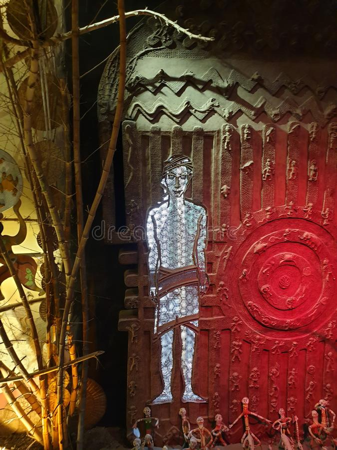 Φυλετική τέχνη Νίκαια, ζωηρόχρωμη, συνδυασμός, μοναδικός, εικόνα στοκ φωτογραφία