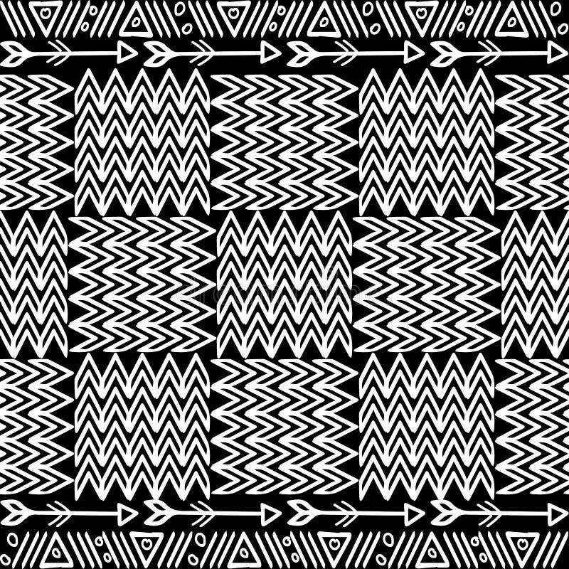 Φυλετικό διανυσματικό άνευ ραφής σχέδιο ύφους apache Γραπτό orn ελεύθερη απεικόνιση δικαιώματος