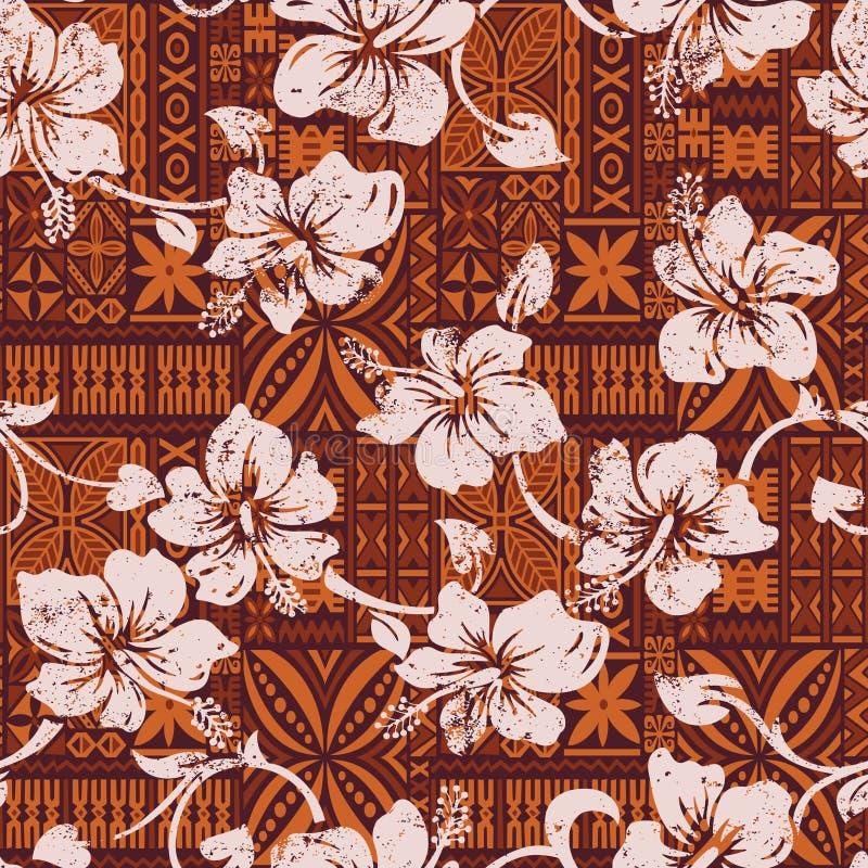 Φυλετικό εκλεκτής ποιότητας της Χαβάης hibiscus ανθίζει την ταπετσαρία ελεύθερη απεικόνιση δικαιώματος