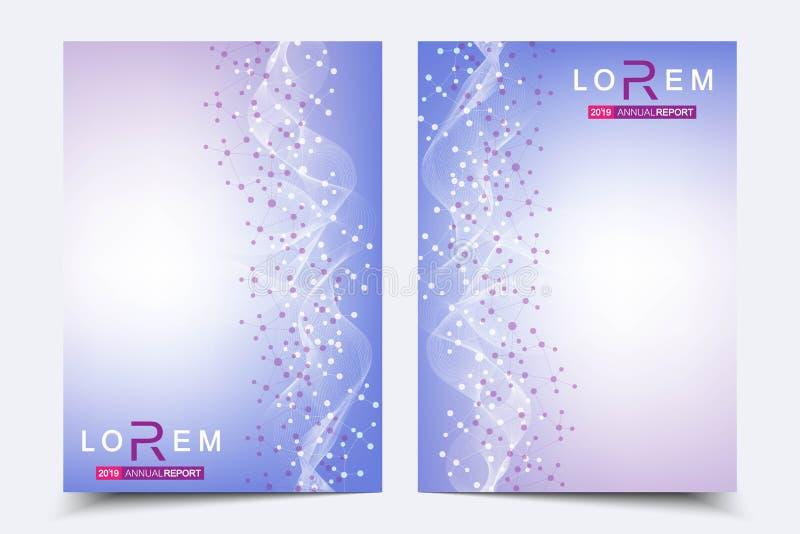 Φυλλάδιο επιχειρησιακών προτύπων, περιοδικό, φυλλάδιο, ιπτάμενο, κάλυψη, βιβλιάριο, ετήσια έκθεση Επιστημονική έννοια για ιατρικό διανυσματική απεικόνιση