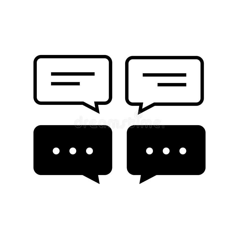 Φυσαλίδα Iicons συνομιλίας και ομιλίας που τίθεται στο άσπρο υπόβαθρο ελεύθερη απεικόνιση δικαιώματος