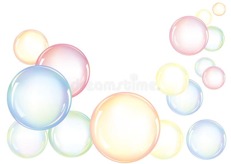 φυσαλίδες ζωηρόχρωμες ελεύθερη απεικόνιση δικαιώματος