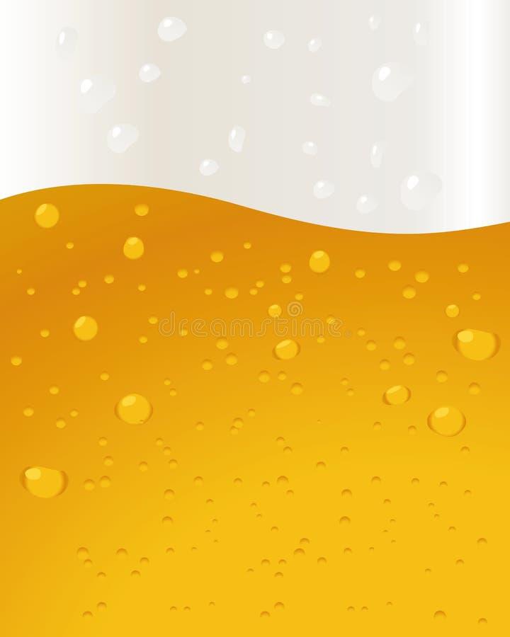 φυσαλίδες μπύρας ανασκόπ& ελεύθερη απεικόνιση δικαιώματος