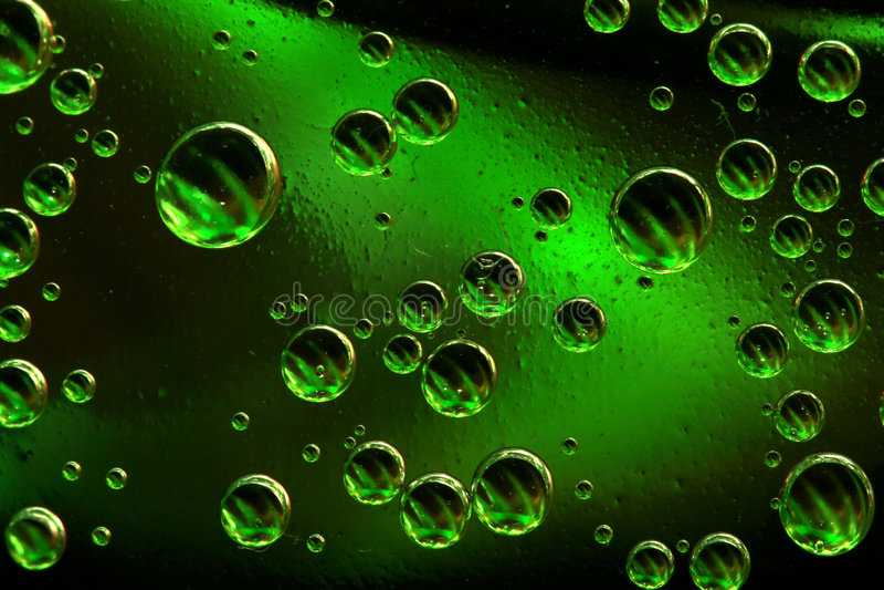 φυσαλίδες πράσινες στοκ εικόνα