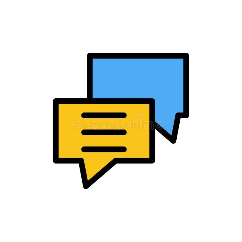 Φυσαλίδες, Συνομιλία, Πελάτης, Συζήτηση, Εικονίδιο ομαδικού χρώματος Πρότυπο πλαισίου διανυσματικού εικονιδίου ελεύθερη απεικόνιση δικαιώματος