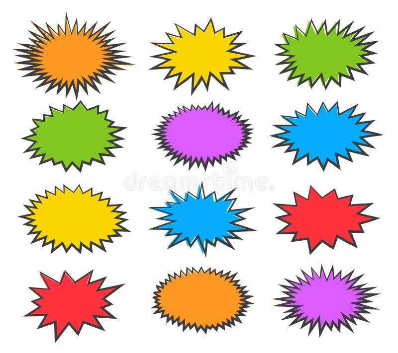 Φυσαλίδες Starburst καθορισμένες ελεύθερη απεικόνιση δικαιώματος