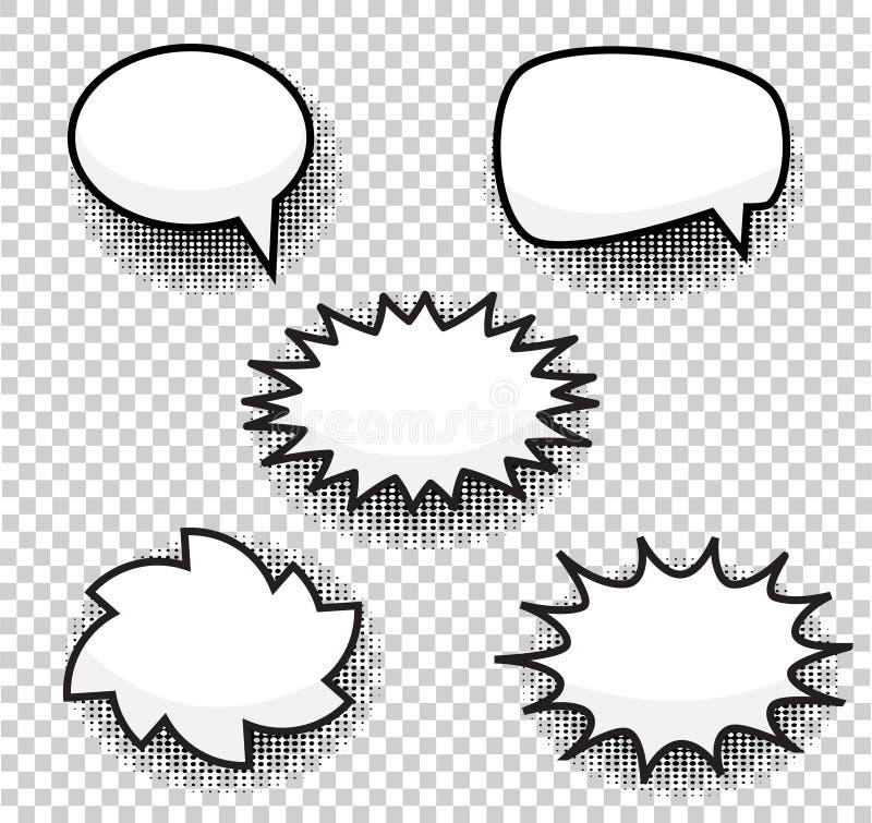 Φυσαλίδων κωμική απεικόνιση duddle ύφους διανυσματική Explosio κινούμενων σχεδίων απεικόνιση αποθεμάτων
