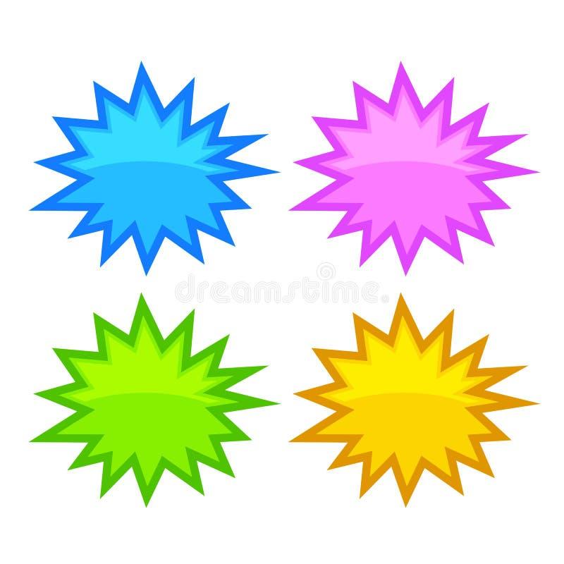 Φυσαλίδα λεκτικών αστεριών απεικόνιση αποθεμάτων
