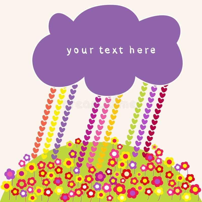 Φυσαλίδες βροχής καρδιών και ομιλίας σύννεφων. ελεύθερη απεικόνιση δικαιώματος