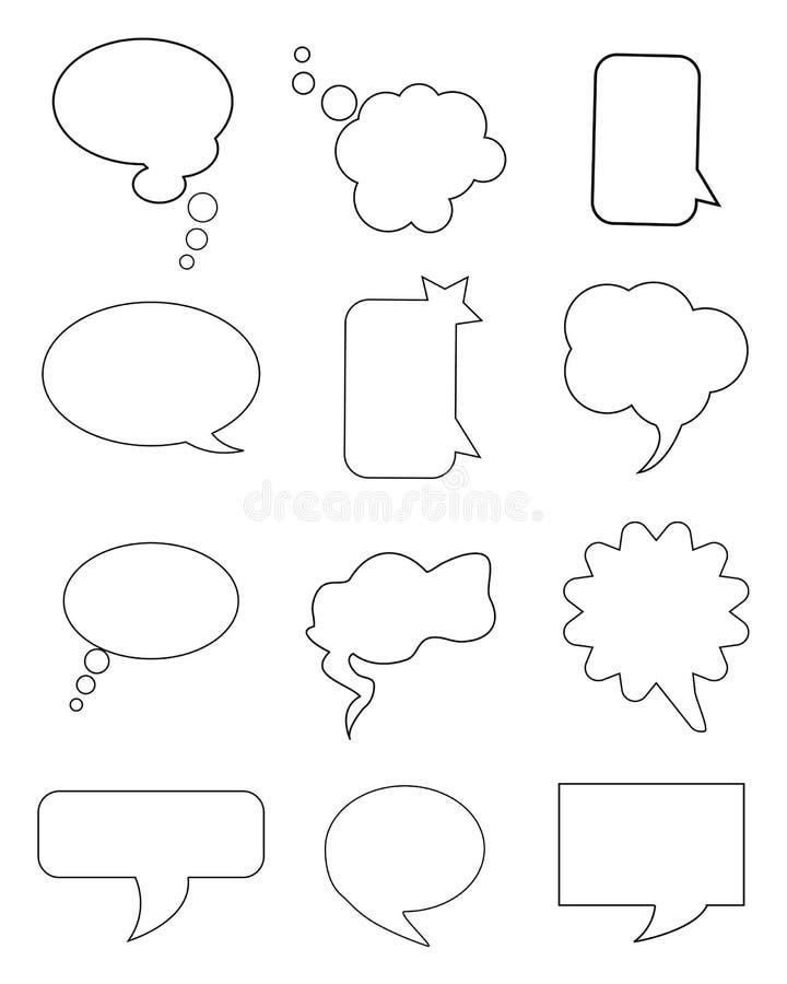 Φυσαλίδες συνομιλίας απεικόνιση αποθεμάτων