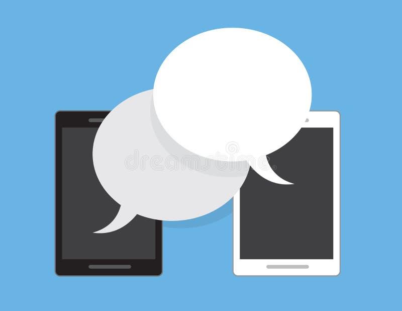 Φυσαλίδες τηλεφωνικής ομιλίας διανυσματική απεικόνιση