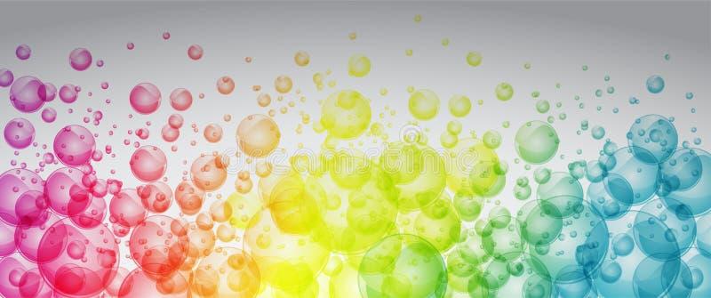 Φυσαλίδες χρώματος ουράνιων τόξων ελεύθερη απεικόνιση δικαιώματος