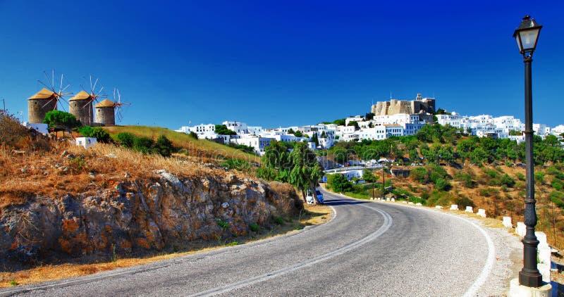 Φυσικά ελληνικά νησιά, Patmos στοκ εικόνες