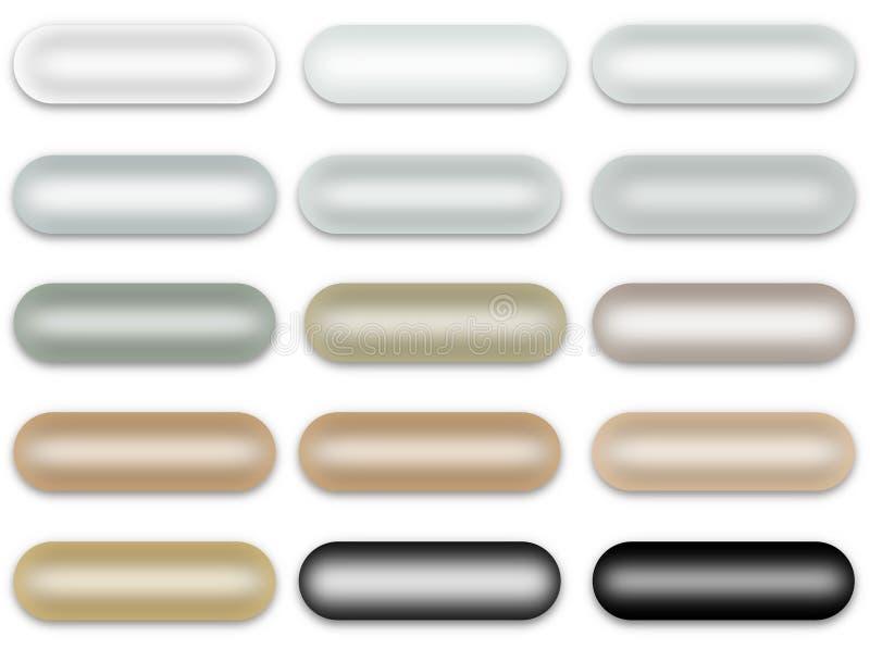Φυσικά μαργαριταρένια κουμπιά μαργαριταριών καθορισμένα (απομονωμένος) ελεύθερη απεικόνιση δικαιώματος