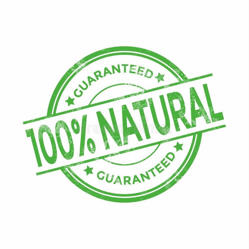 100 φυσικά οργανικά εγγυημένα γραμματόσημα Grunge τοις εκατό ελεύθερη απεικόνιση δικαιώματος
