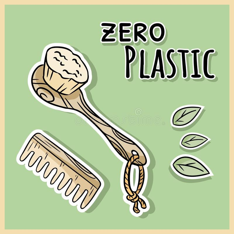 Φυσικά υλικά στοιχεία ντους Οικολογικό και προϊόν μηδέν-αποβλήτων Θερμοκήπιο και πλαστικός-ελεύθερη διαβίωση απεικόνιση αποθεμάτων