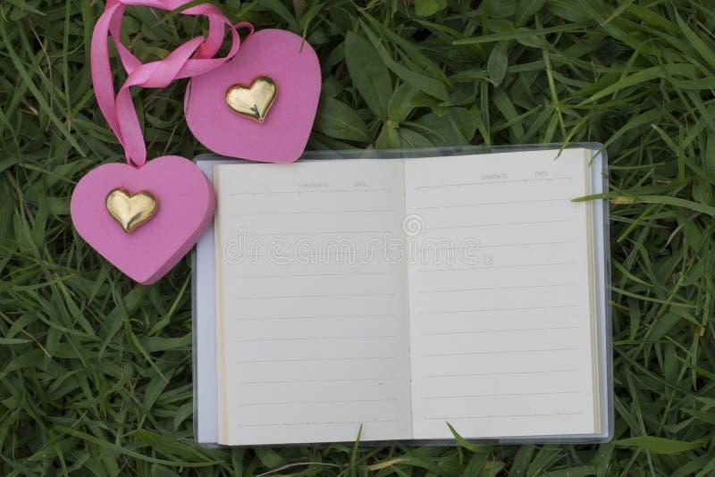 Φυσικά υπόβαθρα και βιβλία για τα ρητά με τα τριαντάφυλλα, καρδιές, κόκκινες κορδέλλες, έννοιες ημέρας του βαλεντίνου στοκ εικόνα με δικαίωμα ελεύθερης χρήσης
