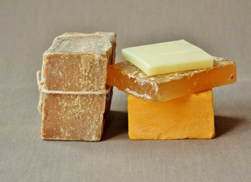 Φυσικές οργανικές ράβδοι σαπουνιών στοκ φωτογραφία με δικαίωμα ελεύθερης χρήσης