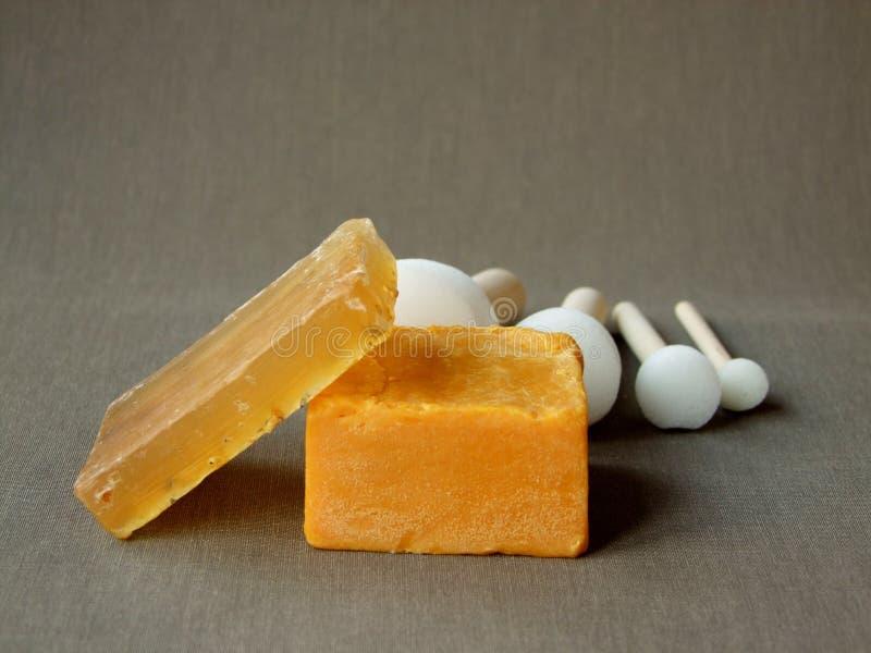 Φυσικές οργανικές ράβδοι σαπουνιών στοκ εικόνα με δικαίωμα ελεύθερης χρήσης
