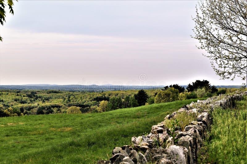 Φυσική άποψη του εθνικού Wildlfe καταφυγίου Oxbow παίρνω από το Χάρβαρντ, Μασαχουσέτη, Ηνωμένες Πολιτείες στοκ φωτογραφία