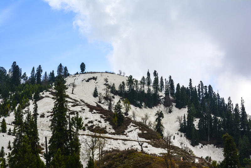 Φυσική άποψη του PAYE Siri στην κοιλάδα Kaghan, Πακιστάν στοκ εικόνα με δικαίωμα ελεύθερης χρήσης