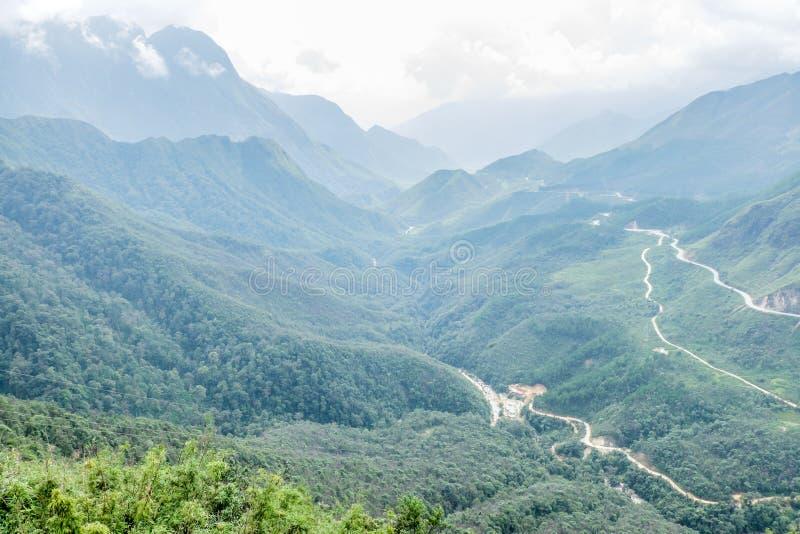 Φυσική άποψη των βουνών, Sapa, Βιετνάμ στοκ φωτογραφίες με δικαίωμα ελεύθερης χρήσης