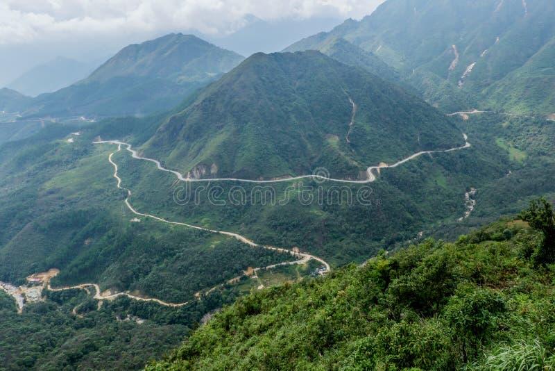 Φυσική άποψη των βουνών, Sapa, Βιετνάμ στοκ φωτογραφία με δικαίωμα ελεύθερης χρήσης
