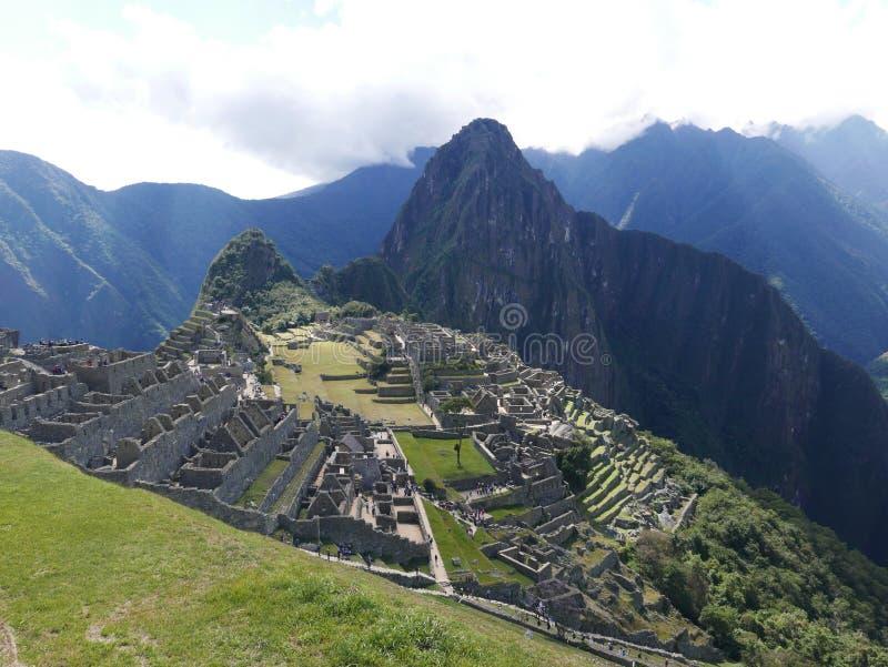 Φυσική άποψη Machu Picchu στο Περού στοκ φωτογραφίες με δικαίωμα ελεύθερης χρήσης