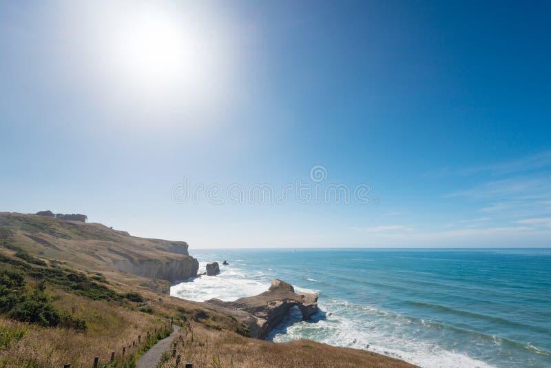 Φυσική αψίδα στην παραλία σηράγγων κοντά σε Dunedin, Νέα Ζηλανδία στοκ εικόνα με δικαίωμα ελεύθερης χρήσης