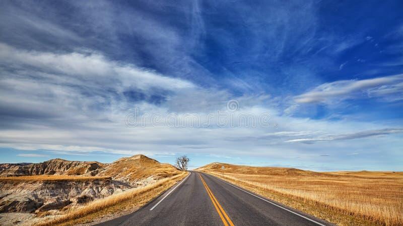 Φυσική εθνική οδός, νότια Ντακότα, ΗΠΑ στοκ φωτογραφίες