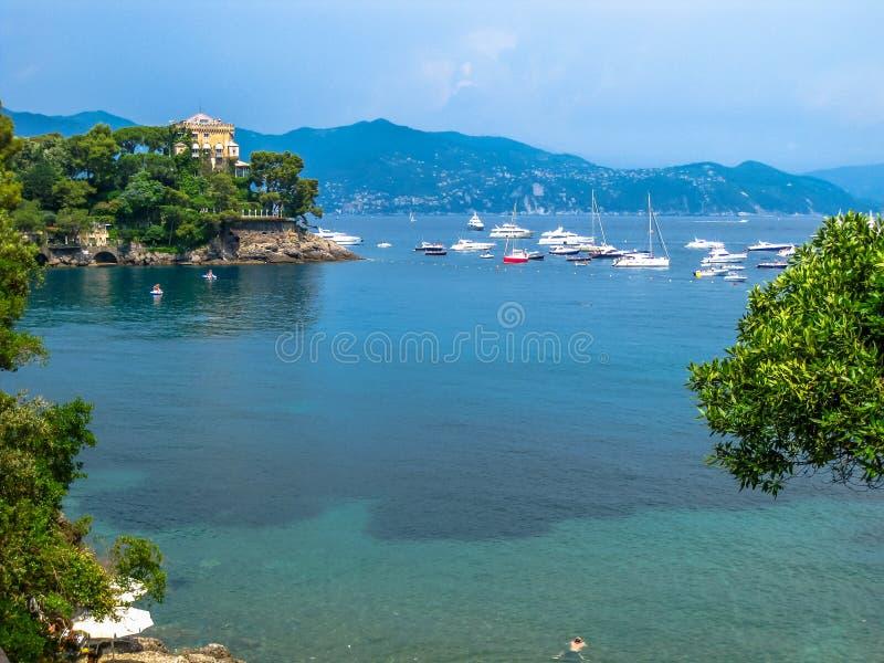 Φυσική θαλάσσια περιοχή Portofino στοκ εικόνα