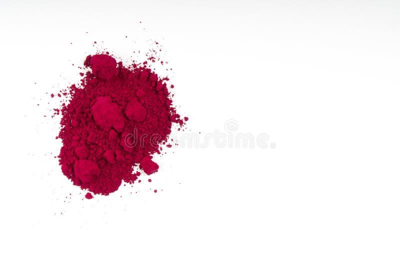φυσική κόκκινη χρωματισμένη σκόνη χρωστικών ουσιών στοκ φωτογραφίες