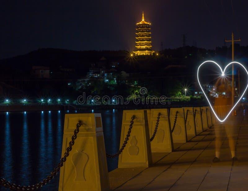Φυσική νύχτα με μια παγόδα στοκ φωτογραφίες με δικαίωμα ελεύθερης χρήσης