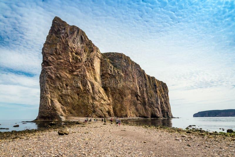 Φυσική πέτρα βράχου Rocher διαπερασμένη Perce στοκ φωτογραφία
