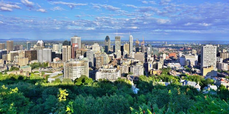 Φυσική πανοραμική άποψη του Μόντρεαλ στο Κεμπέκ, Καναδάς στοκ εικόνες