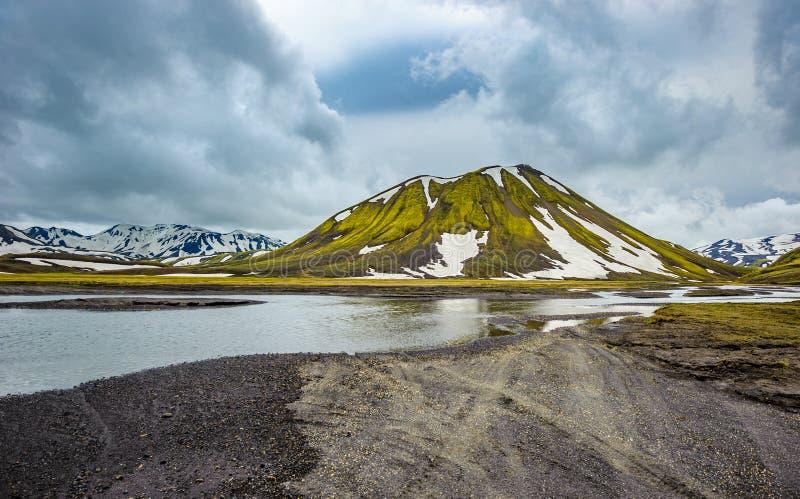 Φυσική περιοχή ορεινών περιοχών Landmannalaugar, Ισλανδία στοκ εικόνα με δικαίωμα ελεύθερης χρήσης