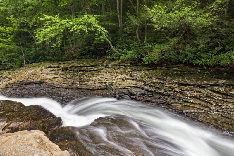 Φυσική φωτογραφική διαφάνεια νερού στο τρέξιμο λιβαδιών στοκ εικόνες