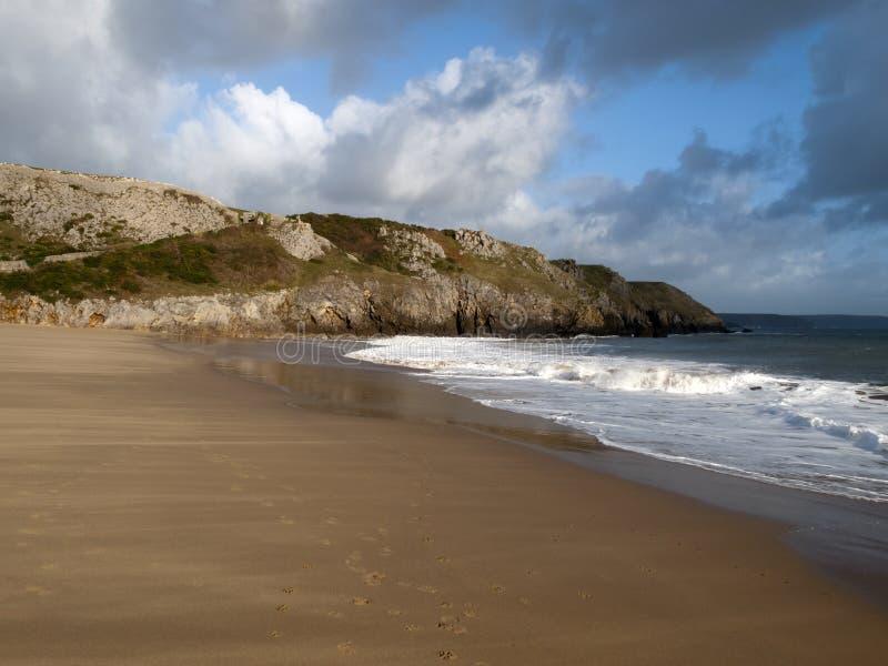 Φυσικός κόλπος Pembrokeshire - Barafundle στοκ φωτογραφίες με δικαίωμα ελεύθερης χρήσης