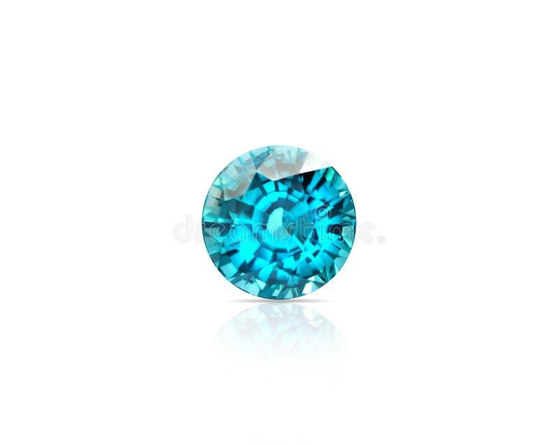 Φυσικός μπλε πολύτιμος λίθος Zircon στοκ εικόνα