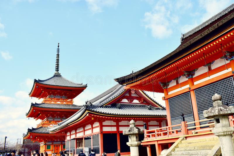 Φυσικός ναός Κιότο, Ιαπωνία kiyomizu-Dera σημείων της Ιαπωνίας στοκ εικόνες