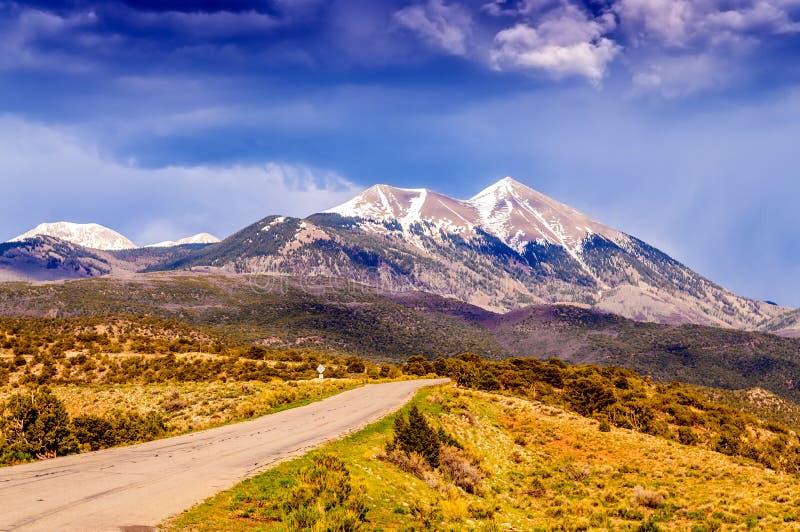 Φυσικός δρόμος βρόχων, βουνά άλατος Λα, στοκ εικόνες με δικαίωμα ελεύθερης χρήσης